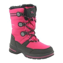American Club Americké zimní boty s membránou 702SB černá růžový 1