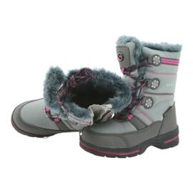 American Club Americké zimní boty s membránou 702SB šedá růžový 4
