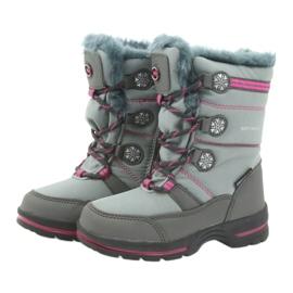 American Club Americké zimní boty s membránou 702SB šedá růžový 3