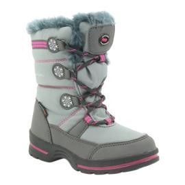 American Club Americké zimní boty s membránou 702SB šedá růžový 1