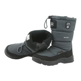 American Club Sněhové boty s americkou 801SB membránovou šedou černá šedá 4