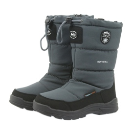 American Club Sněhové boty s americkou 801SB membránovou šedou černá šedá 3