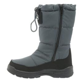 American Club Sněhové boty s americkou 801SB membránovou šedou černá šedá 2