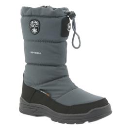 American Club Sněhové boty s americkou 801SB membránovou šedou černá šedá 1