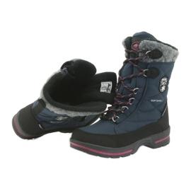 American Club Sněhové boty s americkou membránovou námořnickou modrou 801SB černá válečné loďstvo 4