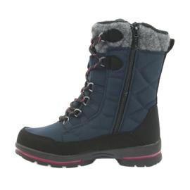 American Club Sněhové boty s americkou membránovou námořnickou modrou 801SB černá válečné loďstvo 2