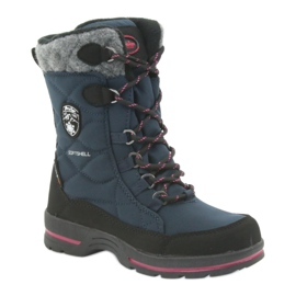 American Club Sněhové boty s americkou membránovou námořnickou modrou 801SB černá válečné loďstvo 1