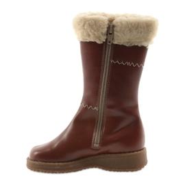 Zawadka Dívčí boty s kožešinou Zawatka hnědá hnědý 2