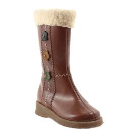 Zawadka Dívčí boty s kožešinou Zawatka hnědá hnědý 1