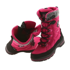 American Club Sněhové boty s americkou 801SB membránou růžovou černá šedá růžový 4