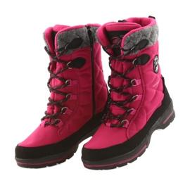 American Club Sněhové boty s americkou 801SB membránou růžovou černá šedá růžový 3