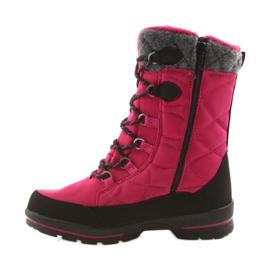 American Club Sněhové boty s americkou 801SB membránou růžovou černá šedá růžový 2
