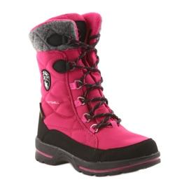 American Club Sněhové boty s americkou 801SB membránou růžovou černá šedá růžový 1