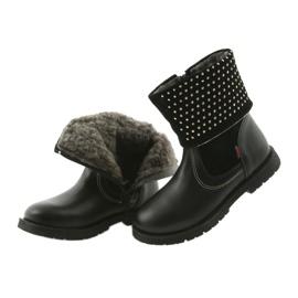 Dívčí boty Zarro 94/7 černé trysky černá 4