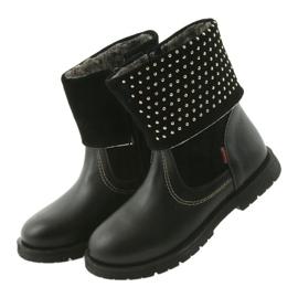 Dívčí boty Zarro 94/7 černé trysky černá 3