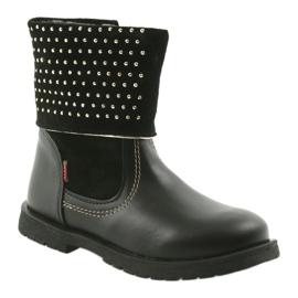 Dívčí boty Zarro 94/7 černé trysky černá 1