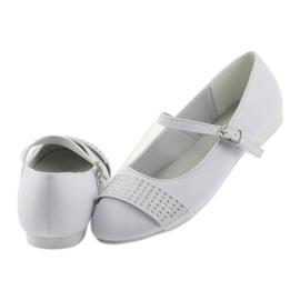 Pumpy dětské boty Communion Ballerinas rhinestones American Club 11/19 bílá 5