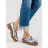 Corina šedá Lakované boty Loafers obrázek 2