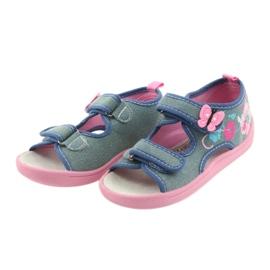 American Club Dětská obuv Pantofle Sandály Americká kožená vložka 37/19 3