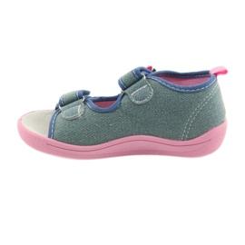 American Club Dětská obuv Pantofle Sandály Americká kožená vložka 37/19 2