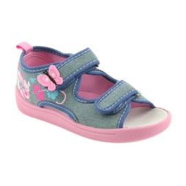 American Club Dětská obuv Pantofle Sandály Americká kožená vložka 37/19 1
