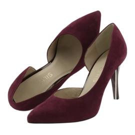 Dámské boty Suede semiš Anis cherry červená vícebarevný 5