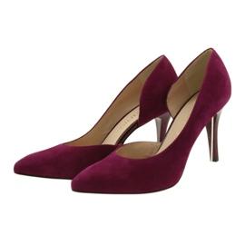 Dámské boty Suede semiš Anis cherry červená vícebarevný 3