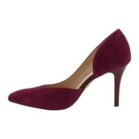 Dámské boty Suede semiš Anis cherry červená vícebarevný 2