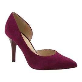Dámské boty Suede semiš Anis cherry červená vícebarevný 1