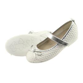 Balerínská obuv se suchým zipem American Club GC16 bílá šedá 4