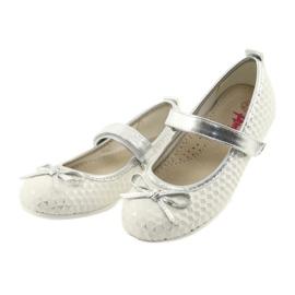 Balerínská obuv se suchým zipem American Club GC16 bílá šedá 3