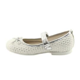 Balerínská obuv se suchým zipem American Club GC16 bílá šedá 2