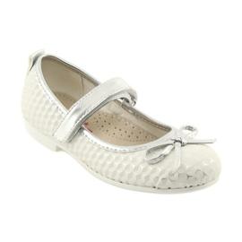 Balerínská obuv se suchým zipem American Club GC16 bílá šedá 1
