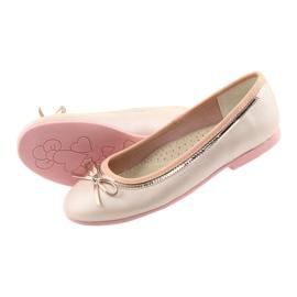 Baleríny s luční růžovou perlou American Club GC14 / 19 růžový zlato 4