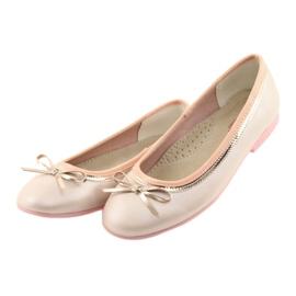 Baleríny s luční růžovou perlou American Club GC14 / 19 růžový zlato 3