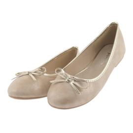 Americký klub Ballerinas American Club LU17 béžový zlato 3
