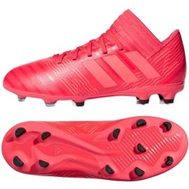 Kopačky adidas Nemeziz 17,3 Fg Jr CP9166 červená červená 2