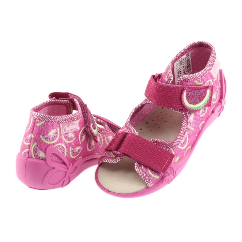 Růžový Befado žlutá dětská obuv 342P004 obrázek 5