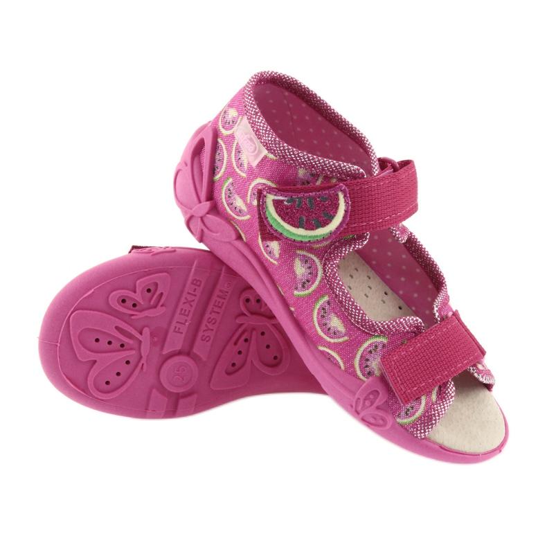 Růžový Befado žlutá dětská obuv 342P004 obrázek 4