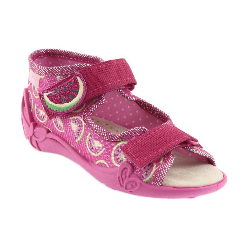 Růžový Befado žlutá dětská obuv 342P004 obrázek 2