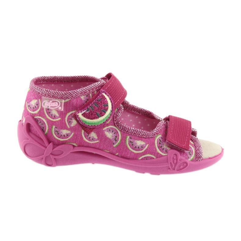 Růžový Befado žlutá dětská obuv 342P004 obrázek 1
