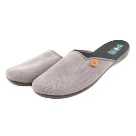 Pantofle Adanex pánské pantofle šedé šedá 3