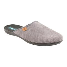 Pantofle Adanex pánské pantofle šedé šedá 1