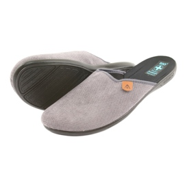 Pantofle Adanex pánské pantofle šedé šedá 4
