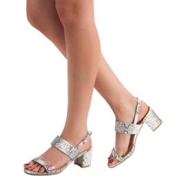 Ideal Shoes Módní dámské sandály šedá 1