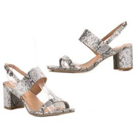 Ideal Shoes Módní dámské sandály šedá 5