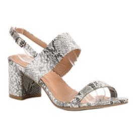 Ideal Shoes Módní dámské sandály šedá 2
