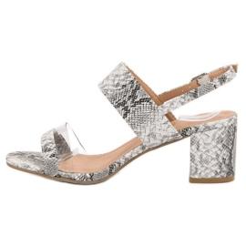 Ideal Shoes Módní dámské sandály šedá 3