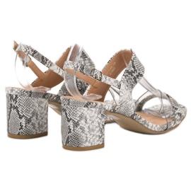 Ideal Shoes Módní dámské sandály šedá 4