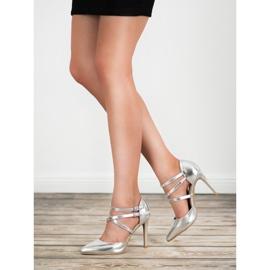 Kylie Lesklé módní knoflíky šedá 1